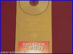 Die Prinzen Gold Award Alles nur geklaut 1994 goldene Schallplatte