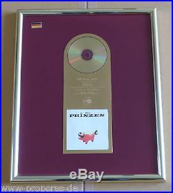 Die Prinzen Gold Award Schweine 1995 goldene Schallplatte Original