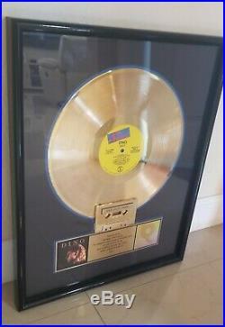 Dino RIAA Gold Award Plaque Latin Freestyle Dance