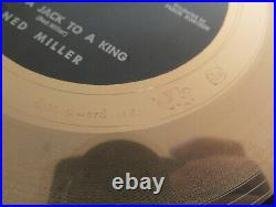 Disc Award Ltd Faber Gold Record From a Jack to a King by Ned Miller Framed