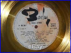 Disque D'or Remis a Charles Aznavour YBARCX 82265 disc 1976 Gold Record Award
