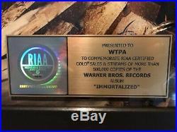 Disturbed RIAA Original USA Immortalized Gold Record Award