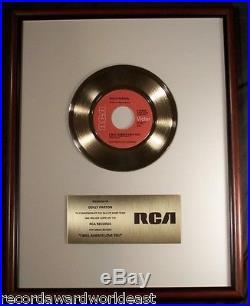 Dolly Parton I Will Always Love You 45 Gold Non RIAA Record Award RCA Records