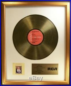 Dolly Parton Jolene LP Gold Non RIAA Record Award RCA Records To Dolly Parton