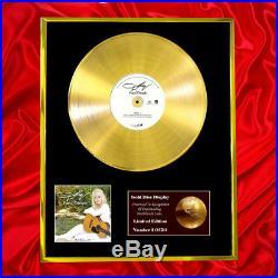 Dolly Parton Pure & Simple CD Gold Disc Record Vinyl Award Lp Same As Bpi & Riaa