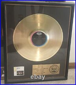 Duran Duran Gold Record Award Rare Presented To Somon Le Bon