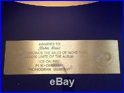 ELTON JOHN GOLD RECORD AWARD Ice on Fire Authentic SOTHEBY'S
