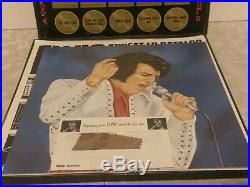 ELVIS PRESLEY WORLDWIDE GOLD AWARD HITS BOX SET 4 LP With POSTER & SWATCH LPM-6402