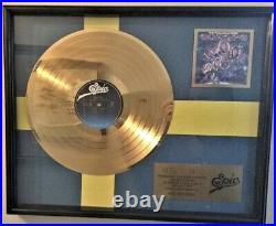 EUROPE THE FINAL COUNTDOWN GOLD RECORD AWARD NON RIAA 1986 (Extremely Rare)