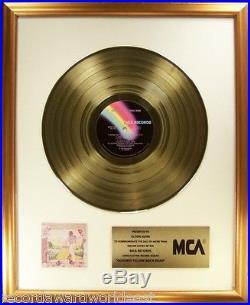 Elton John Goodbye Yellow Brick Road LP Gold Non RIAA Record Award MCA To Elton