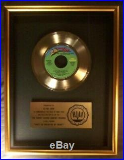Elton John Kiki Dee Don't Go Breaking My Heart 45 Gold RIAA Record Award