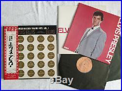 Elvis 4 LP Box Worldwide 50 Gold Award Hits SRA-9173-76 Japan ´70 RARE orig. OBI