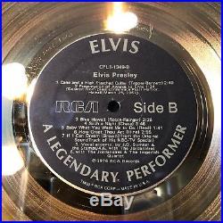Elvis Presley 24KT Gold A Legendary Performer Limited Edition /#77 Record Award