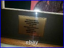 Elvis Presley 24kt Gold Record Essential Elvis award plaque