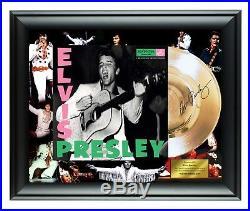 Elvis Presley Autographed Self Titled Album LP Gold Record Award