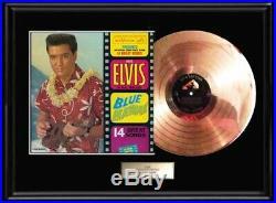 Elvis Presley Blue Hawaii Gold Metalized Record Vinyl Lp Rare Non Riaa Award