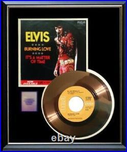 Elvis Presley Burning Love 45 RPM Gold Metalized Record Rare Non Riaa Award