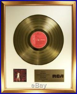 Elvis Presley Elvis 1968 Comeback NBC Special LP Gold Non RIAA Record Award RCA