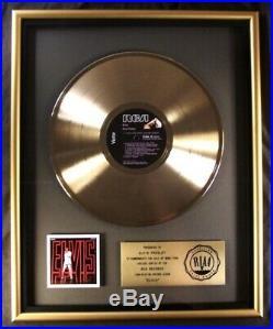 Elvis Presley Elvis NBC TV'68 Special Comeback LP Gold RIAA Record Award RCA