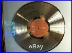 Elvis Presley Elvis at Madison Square Garden Gold Framed Sales Award Record