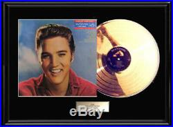 Elvis Presley For Lp Fans Only Rare Gold Metalized Record Album Non Riaa Award