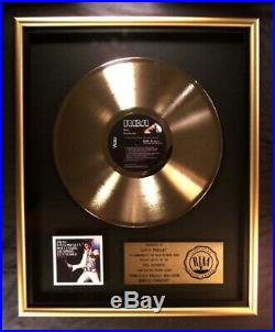 Elvis Presley From Boulevard Memphis, Tennessee LP Gold RIAA Record Award RCA