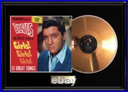 Elvis Presley Girls Girls Rare Gold Metalized Record Album Lp Non Riaa Award