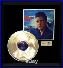 Elvis Presley Gold Record Christmas Album Rare 1960's Award Disc Lp Framed