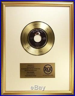 Elvis Presley Heartbreak Hotel 45 Gold Non RIAA Record Award RCA Records