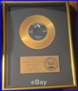 Elvis Presley Heartbreak Hotel Original RIAA 45 Gold Record Award