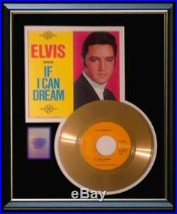 Elvis Presley If I Can Dream 45 RPM Gold Metalized Record Rare Non Riaa Award