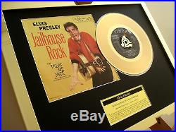 Elvis Presley Jailhouse Rock 24ct Gold Plated Disc 7 Single Record Disc Award