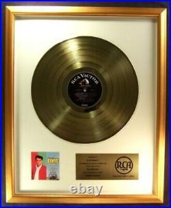 Elvis Presley Kissin' Cousins LP Gold Non RIAA Record Award RCA Records