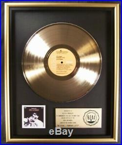 Elvis Presley On Stage LP Gold RIAA Record Award RCA Records To Elvis Presley