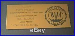 Elvis Presley RIAA Single Gold Record Award Presented To Elvis Presley