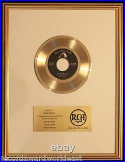 Elvis Presley Stuck On You 45 Gold Non RIAA Record Award RCA Records