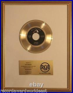 Elvis Presley Surrender 45 Gold Non RIAA Record Award RCA Records To Elvis