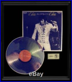 Elvis Presley That's The Way It Is Gold Record Platinum Award Disc Authentic