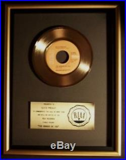 Elvis Presley The Wonder Of You 45 Gold RIAA Record Award RCA Records