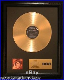 Elvis Presley Welcome To My World LP Gold Record Award Non RIAA RCA Records