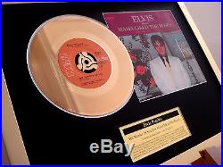 Elvis Presley Wonder Of You 24ct Gold Plated Disc 7 Single Record Disc Award