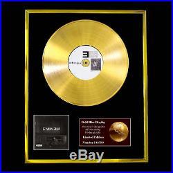 Eminem The Marshall CD Gold Disc Record Lp Award Display Free P&p