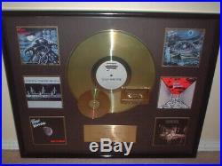 FATES WARNING HUGE CUSTOM GOLD RECORD AWARD for ENTIRE CATALOG NON RIAA 27x22