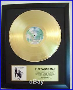 Fleetwood Mac RUMOURS Gold plated LP Record + Mini Album Not a Award