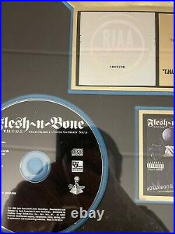 Flesh N Bone T. H. U. G. S Gold Record RIAA Award to (Wes Party Johnson) RARE