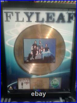 Flyleaf Official RIAA Gold Record Award Debut Album Christian Rock Nu Metal RARE