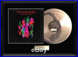 Foo Fighters Wasting Light White Gold Platinum Toned Record Lp Non Riaa Award