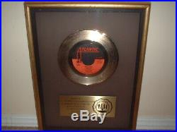 Foreigner Riaa Gold Record Award 45 Floater Hot Blooded