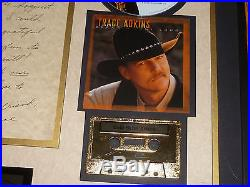 Framed Trace Adkins Award Capitol Records Ksan Country Music Rare Gold Sales Cma