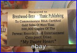 Francesca Battistelli My Paper Heart RIAA Gold Record Award Fervent Christian